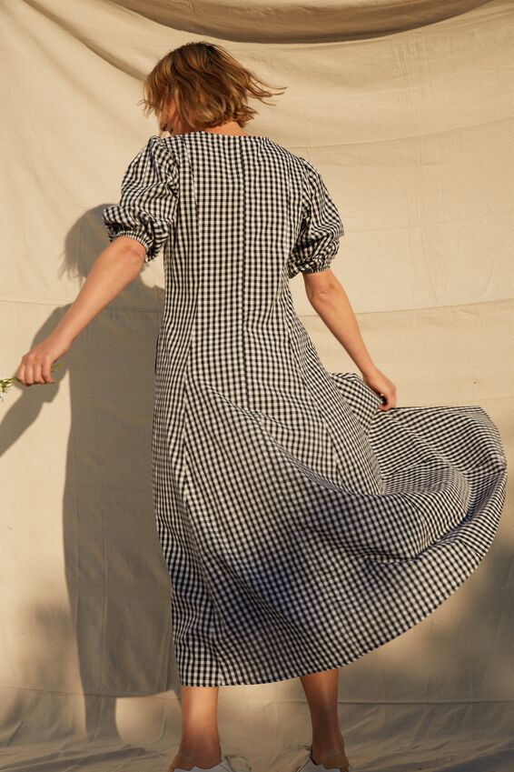 Femme Dress, BLACK AND WHITE GINGHAM