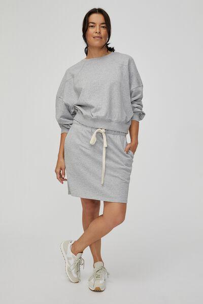 Organic Western Sweater, GREY MARLE / IRON