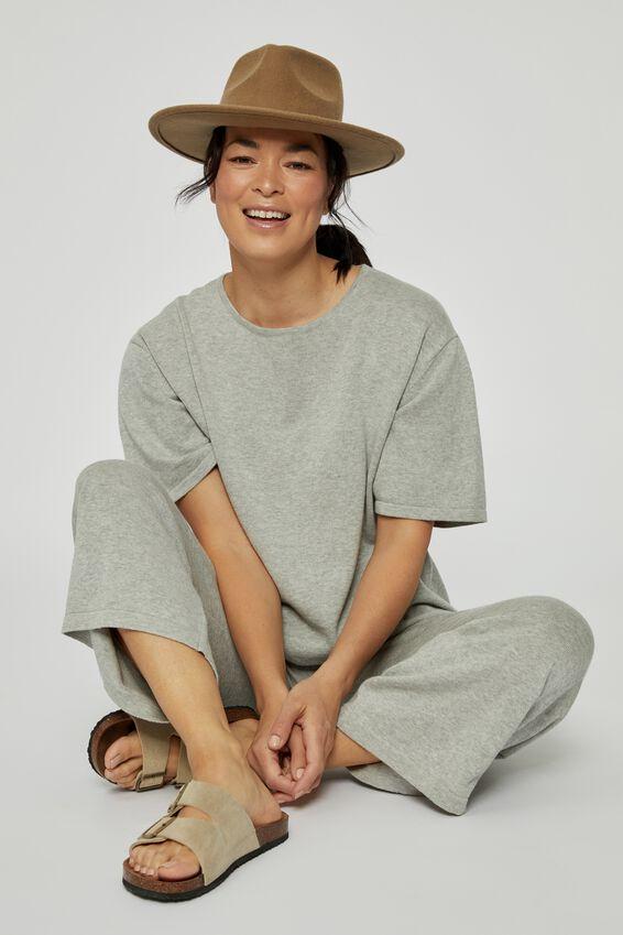 Crop Knit Pant, GREY MARLE