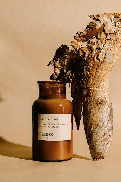 Etikette Soy Candle 250Ml, BROWN JAR