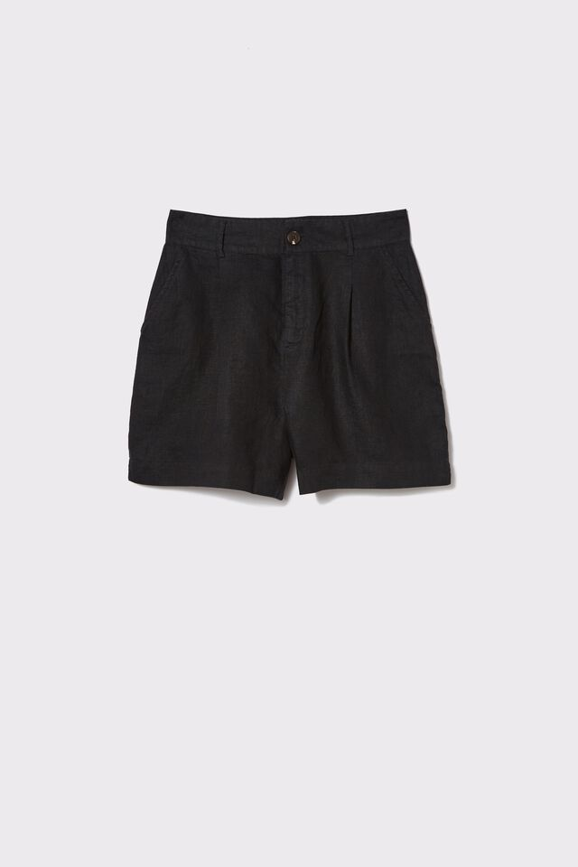 Linen Short, BLACK