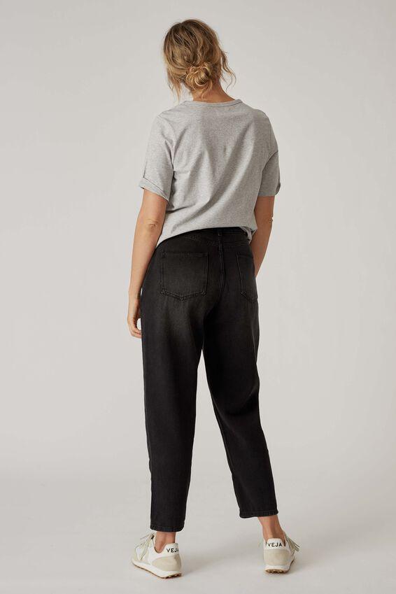 Baggy Weekend Jean, BLACK WASH