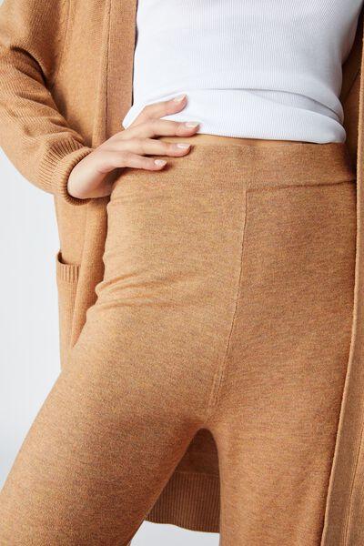 Lightweight Soft Knit Lounge Pant, TAN MARLE