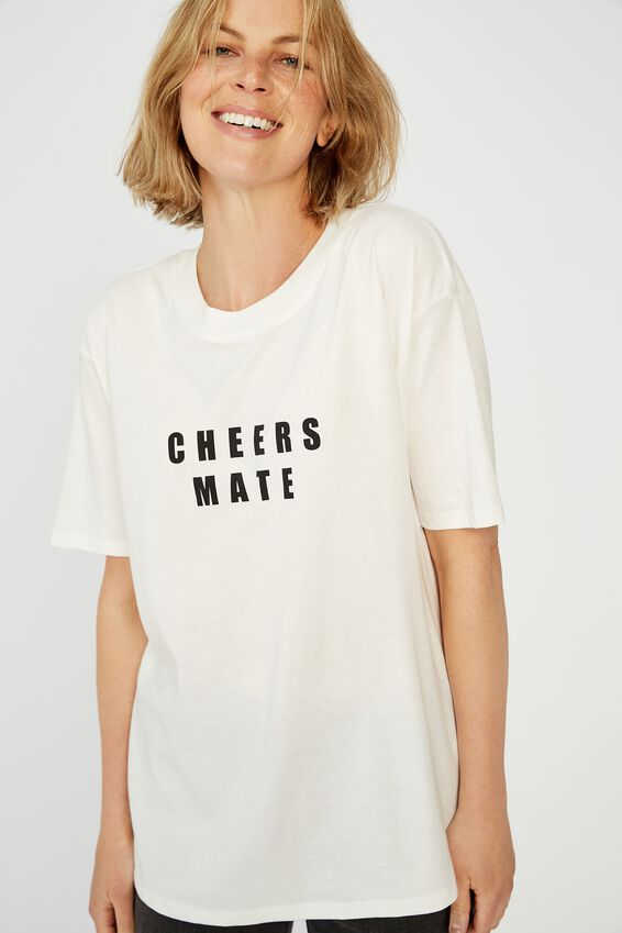The Daily Print Tee, WHITE/CHEERS