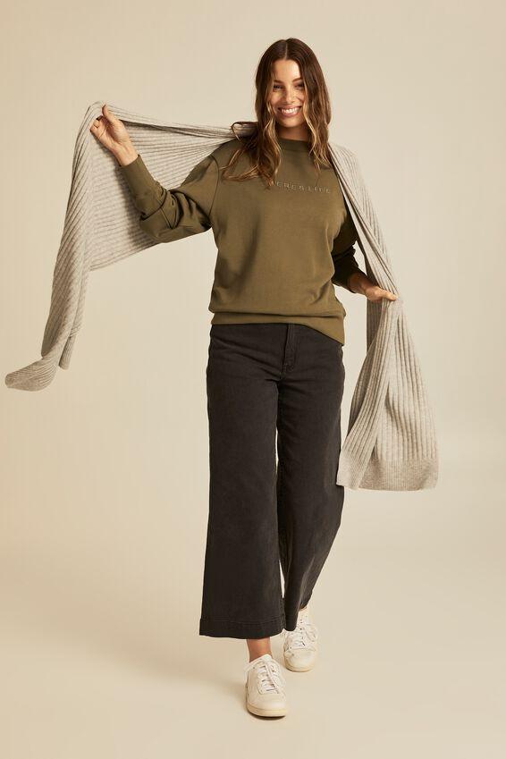 Soft Yarn Scarf, GREY MARLE