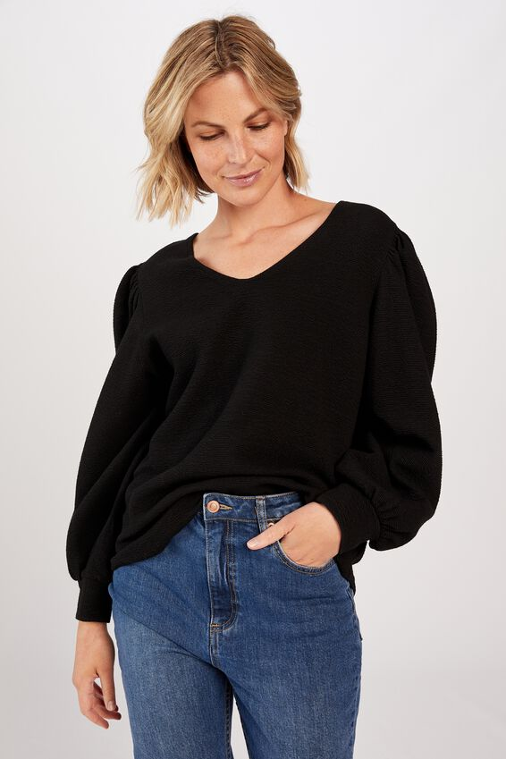 Dalliance Top, BLACK