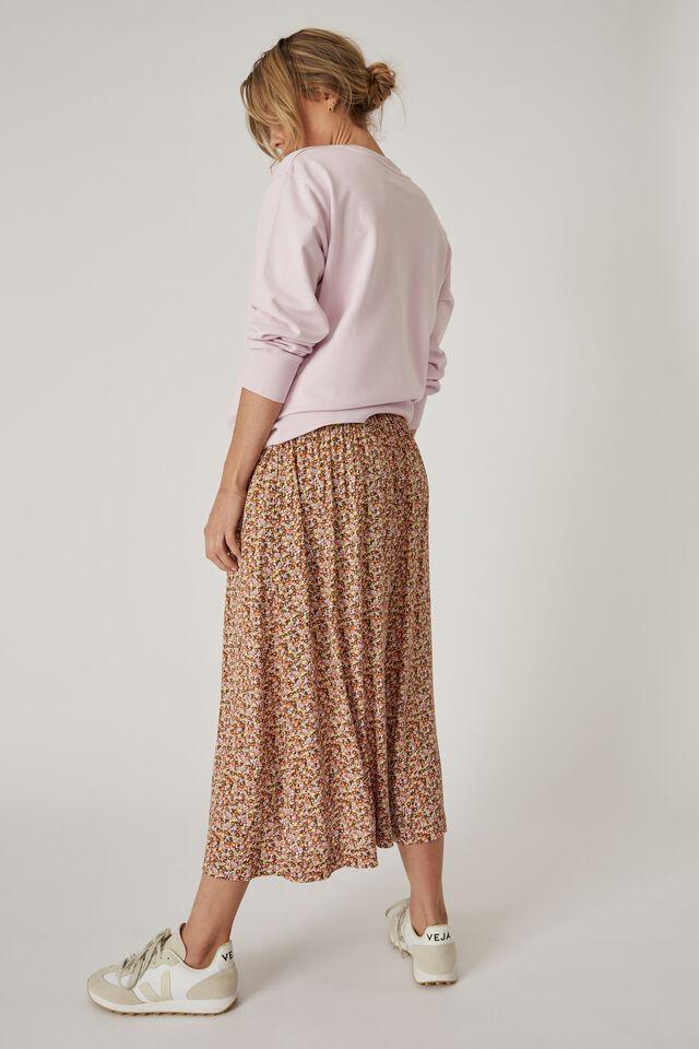 Bijou Midi Skirt, MEADOW FLORAL
