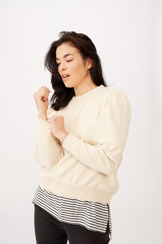 Organic Husk Sweater, ECRU