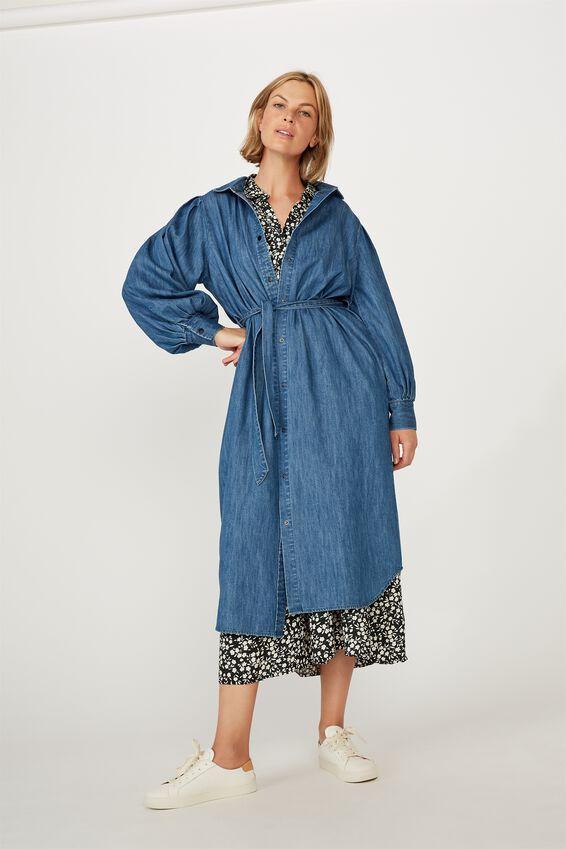 Talisman Shirt Dress, CHAMBRAY