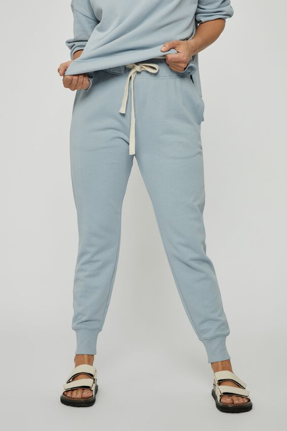 Organic Cotton Trackpant, BLUE FOG