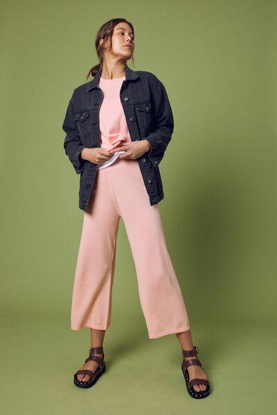 Organic Cotton Knit Pant, MELON