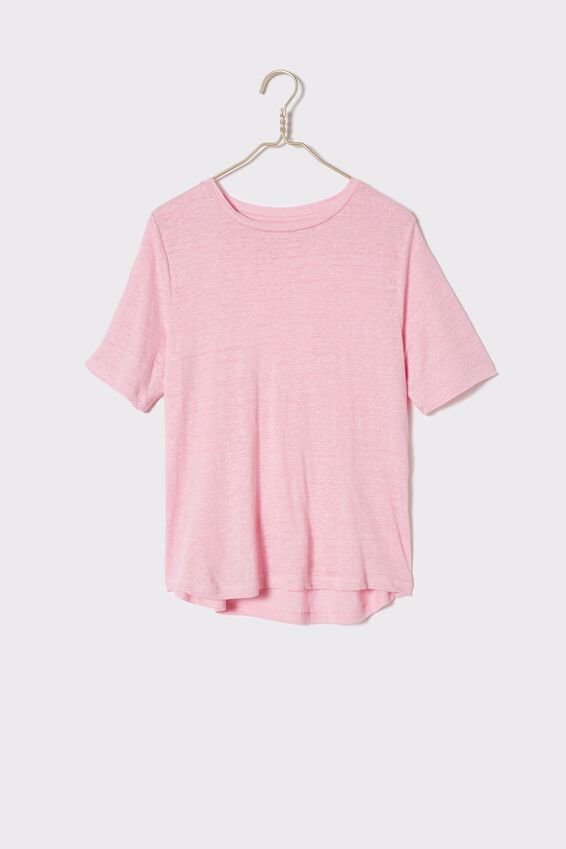 Linen Weekend Tee, FAIRY FLOSS