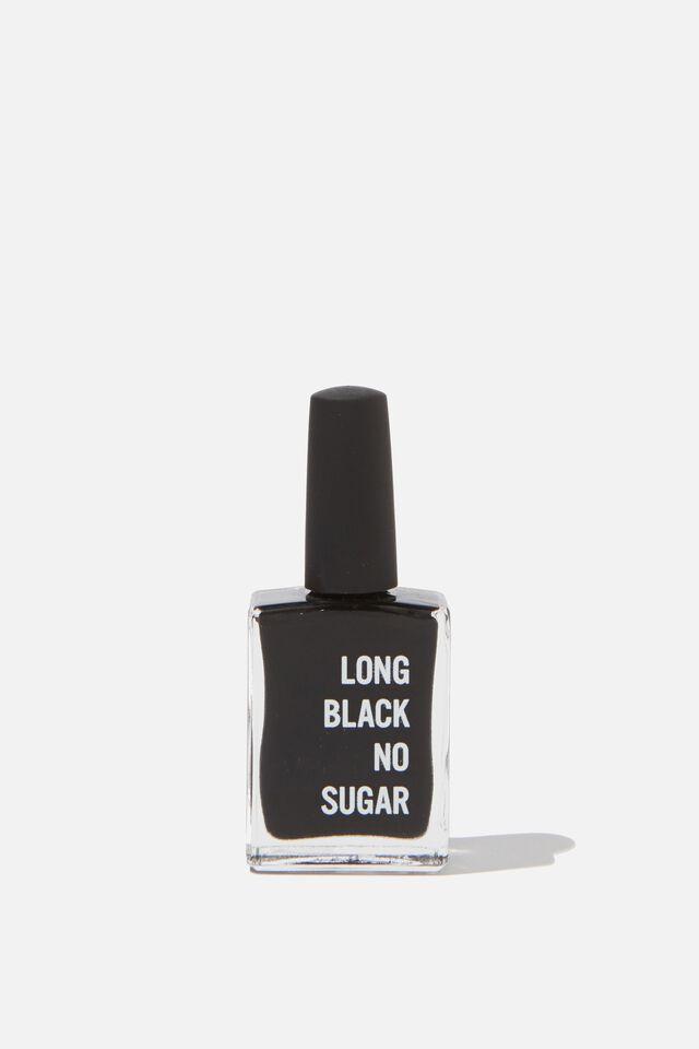 Beysis Nail Polish, BLACK - LONG BLACK NO SUGAR