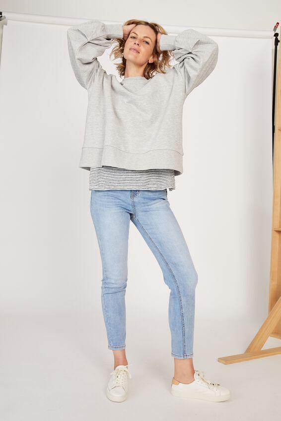 Organic Sunday Sweater, GREY MARLE