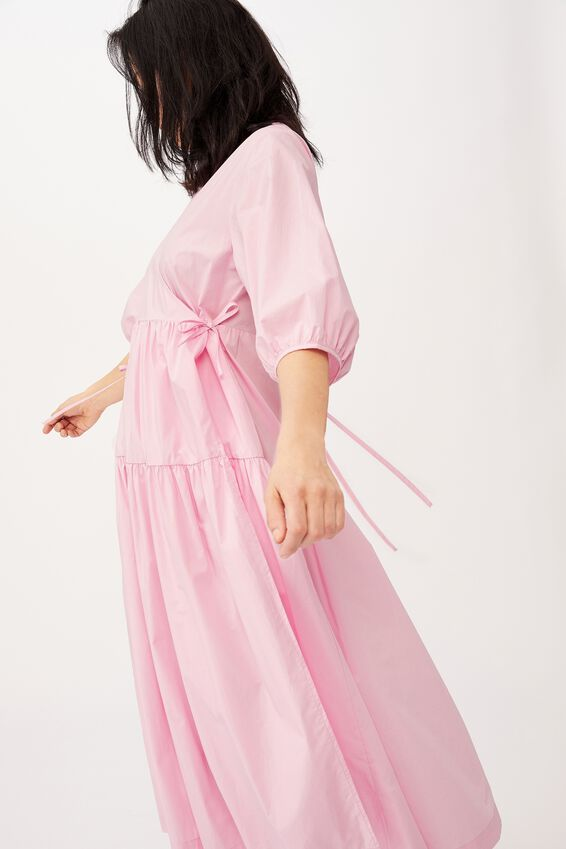 Picnic Wrap Dress, FAIRY FLOSS PINK