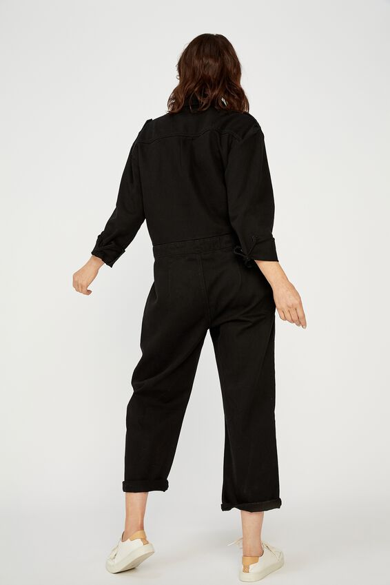 Meadow Utility Jumpsuit, BLACK