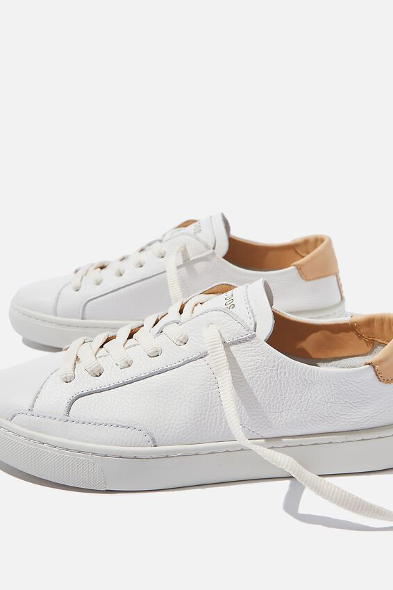 Soludos Classic Ibiza Sneaker, WHITE LEATHER