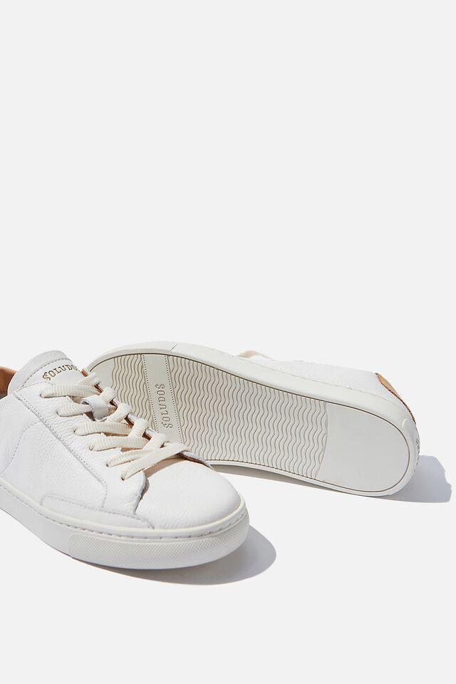 Soludos Classic Ibiza Sneaker, WHITE LEATHER