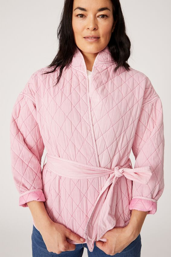 The Valley Quilted Jacket, Candy Pink