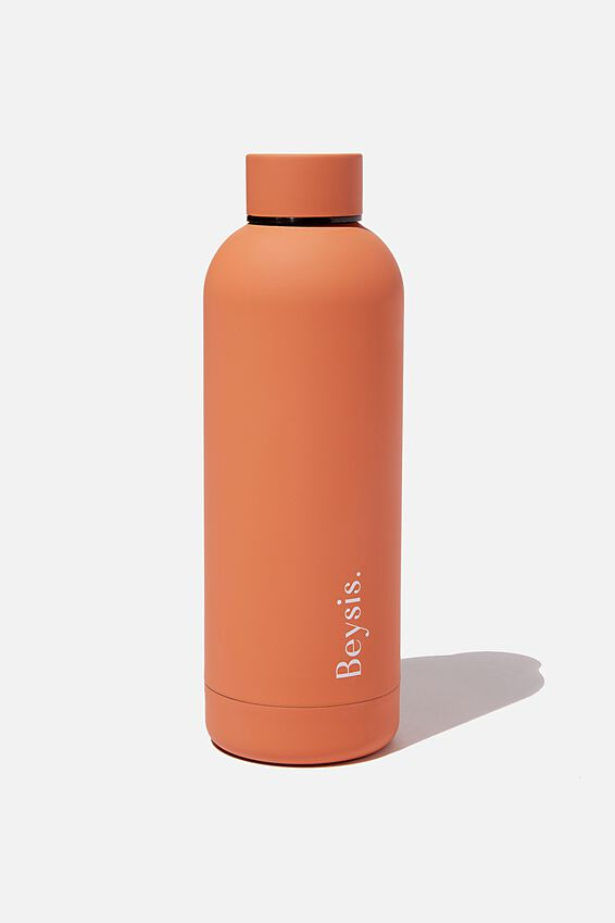 Beysis Metal Water Bottle, TERRACOTTA
