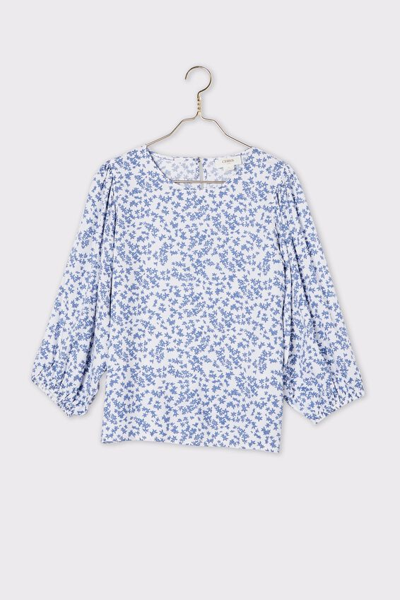 Trash To Treasured X Provence Top, CORNFLOWER DITSY FLORAL