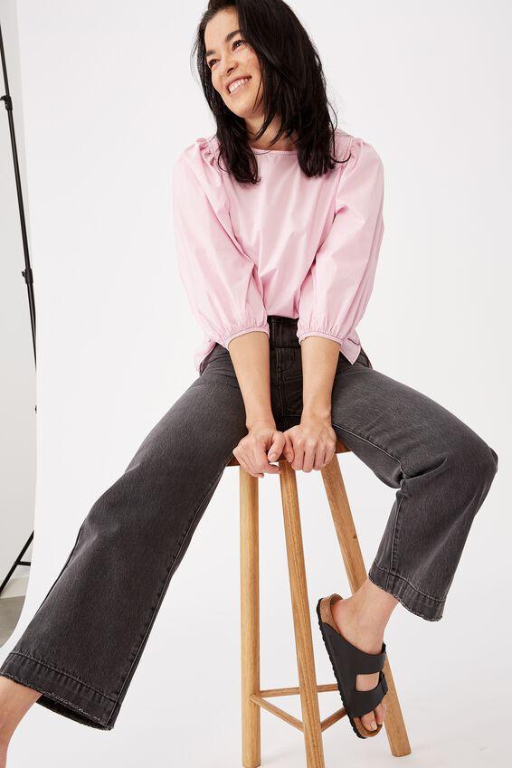 Wide Leg Jeans, SHADDOW