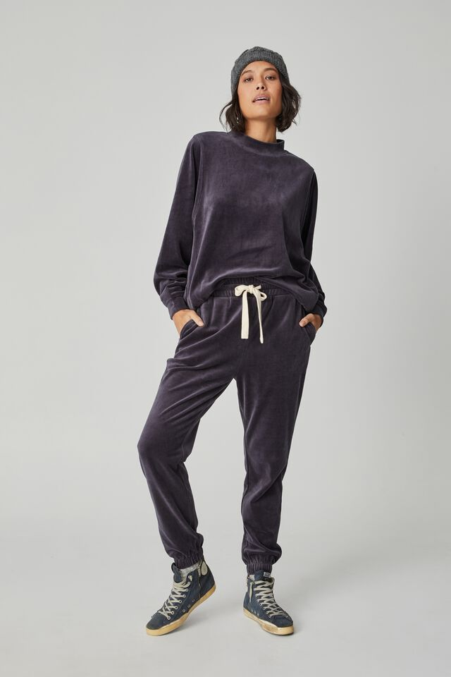 Velour Oversized Sweater, LEAD