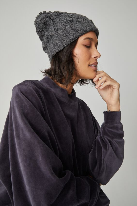 Velour Oversized Sweater, LEAD