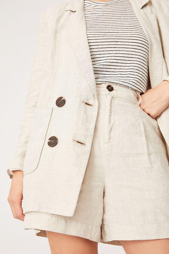Linen Short, PEBBLE