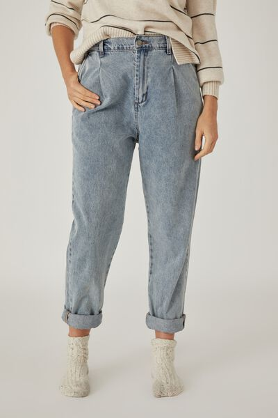 Weekend Pant, MID BLUE WASH