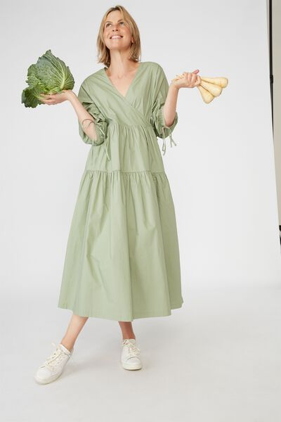 Picnic Wrap Dress, DILL