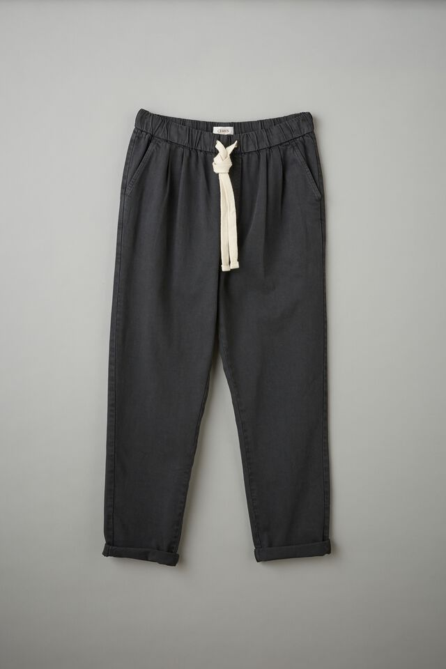 Baggy Everyday Pant With Recycled Cotton, WASHED BLACK