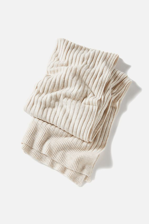 Soft Yarn Scarf, OATMEAL MARLE