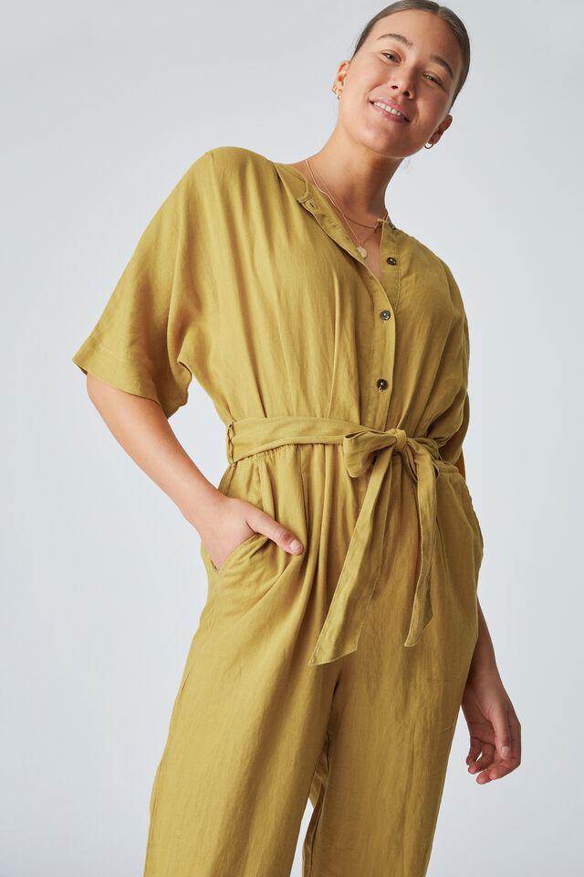 Linen Jumpsuit, GOLDEN SUN