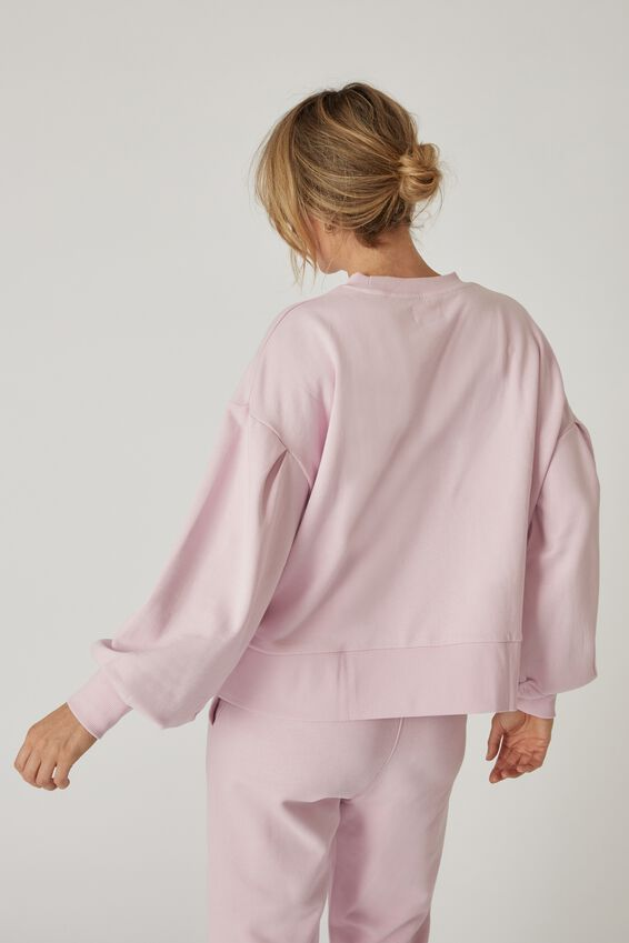 Organic Sunday Sweat, POWDER PINK