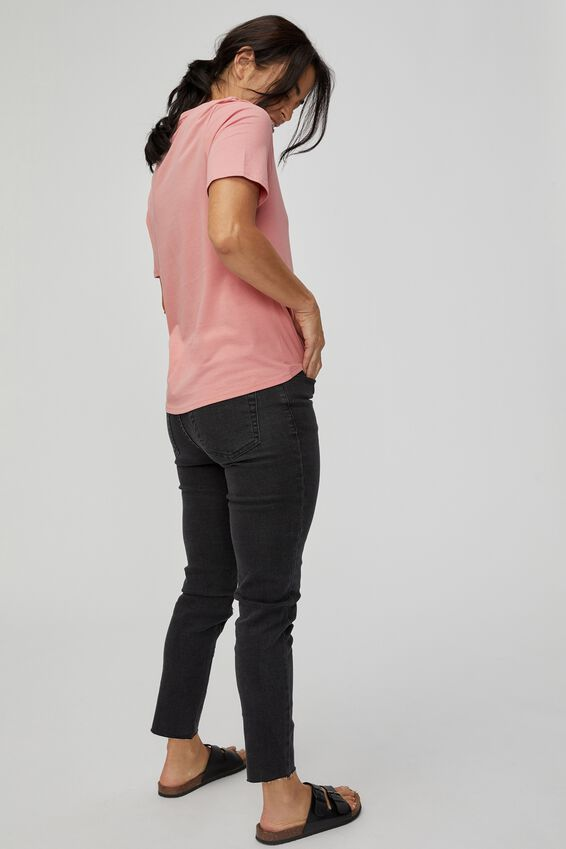 Organic Daily Tee, WASHED PINK