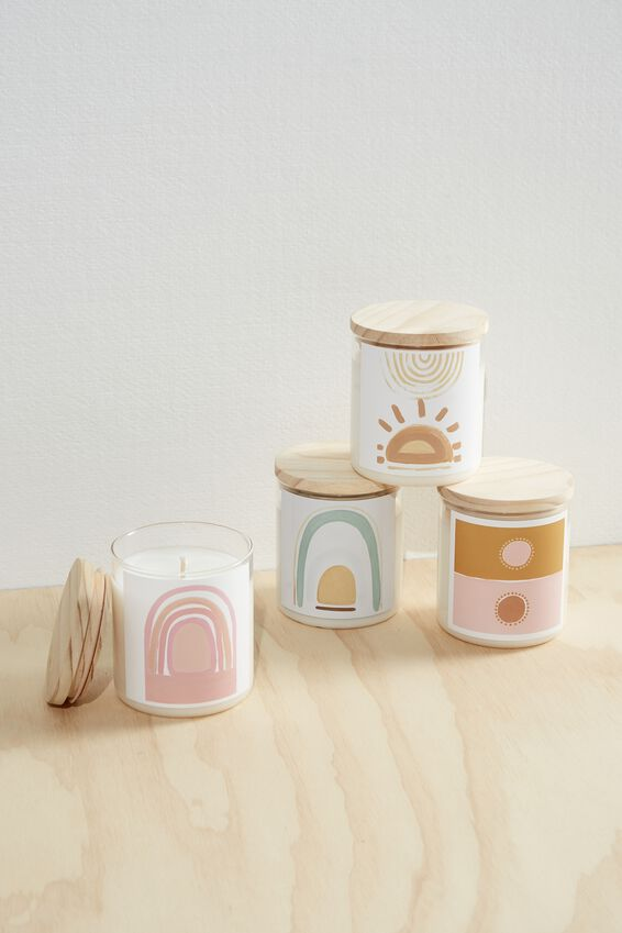 The Commonfolk Soy Candle 600G, PINK RAINBOW