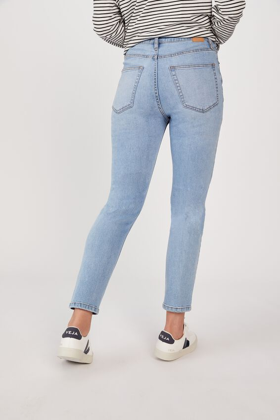 Mid Rise Skinny Jeans, VINTAGE BLUE