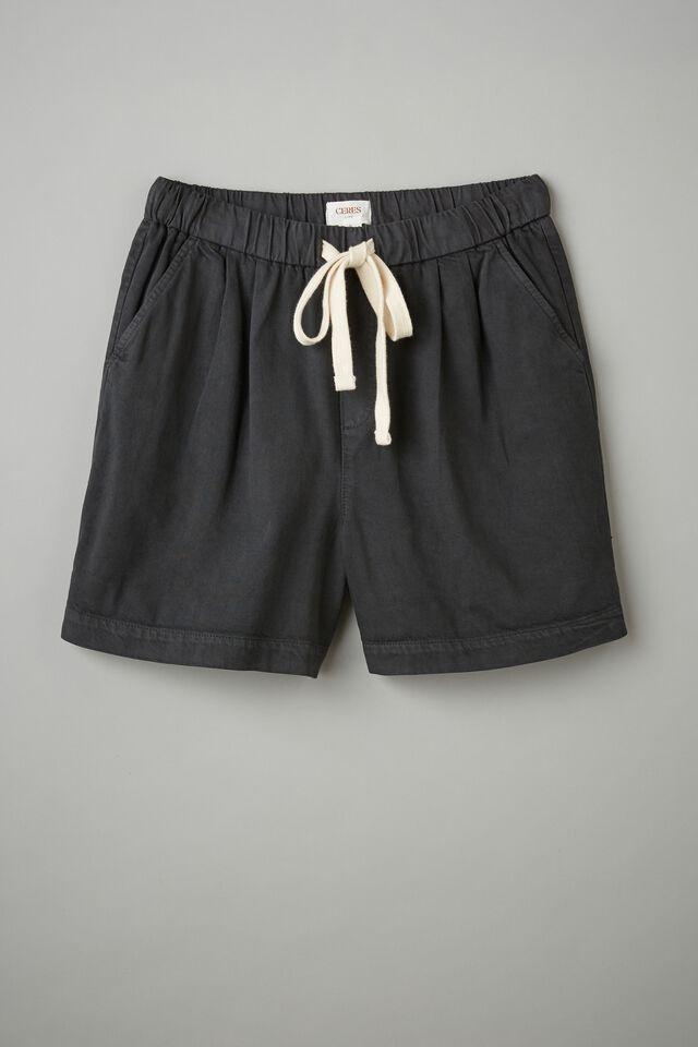 Baggy Everyday Short, WASHED BLACK