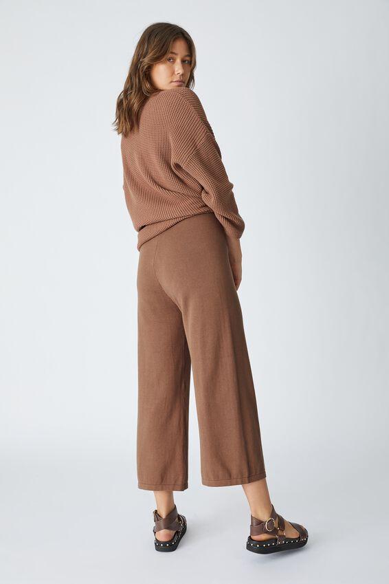 Organic Cotton Knit Pant, CLOVE