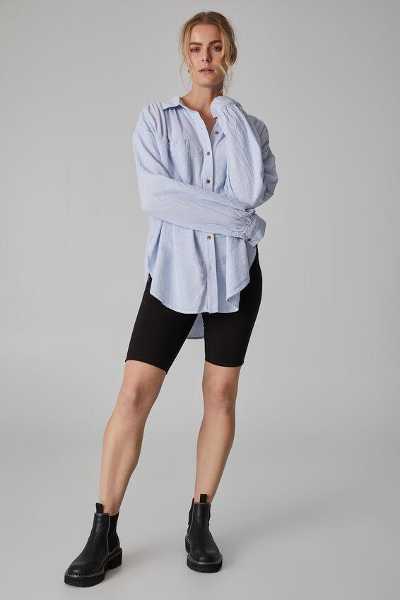 The Oversized Stripe Shirt, BLUE STRIPE