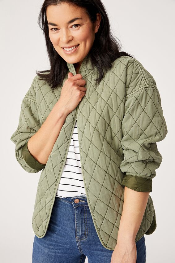 The Valley Quilted Jacket, DILL