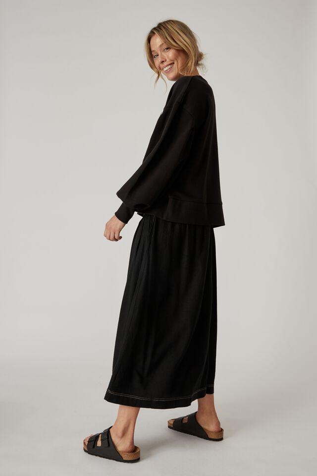Fallen Skirt, BLACK