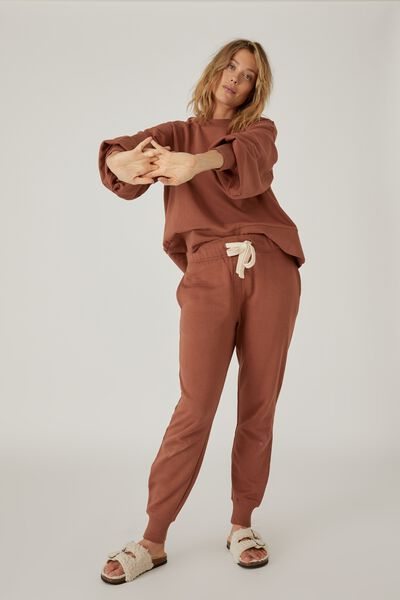 Organic Cotton Trackpant, RUST
