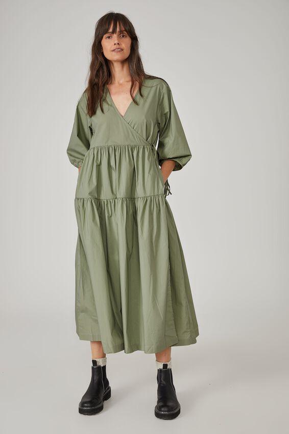 Picnic Wrap Dress, DILL