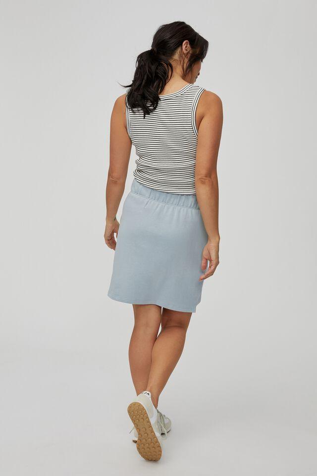 Organic Fleece Mini Tube Skirt, BLUE FOG