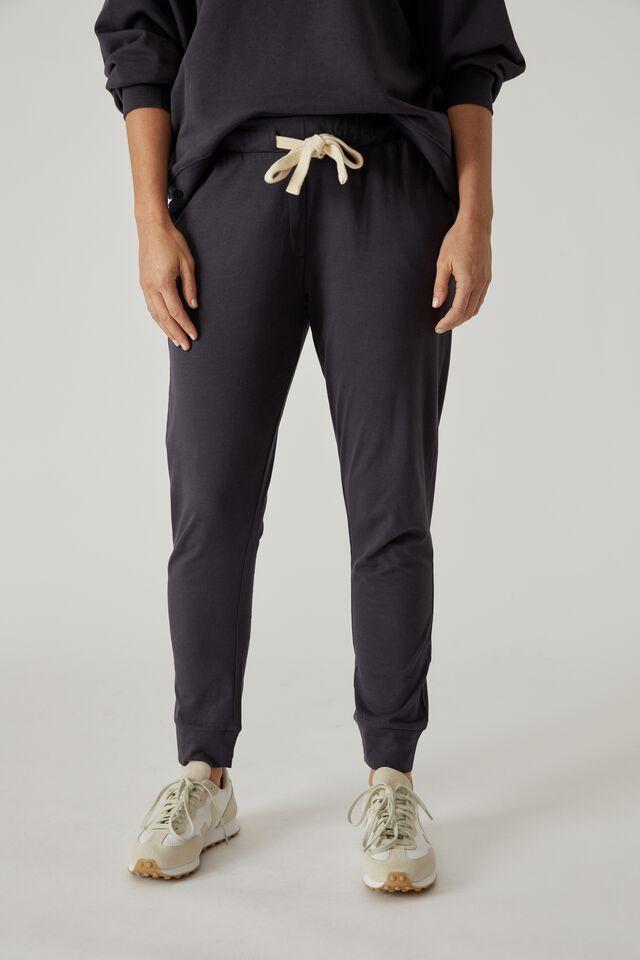 Organic Jersey Pant, LEAD GREY