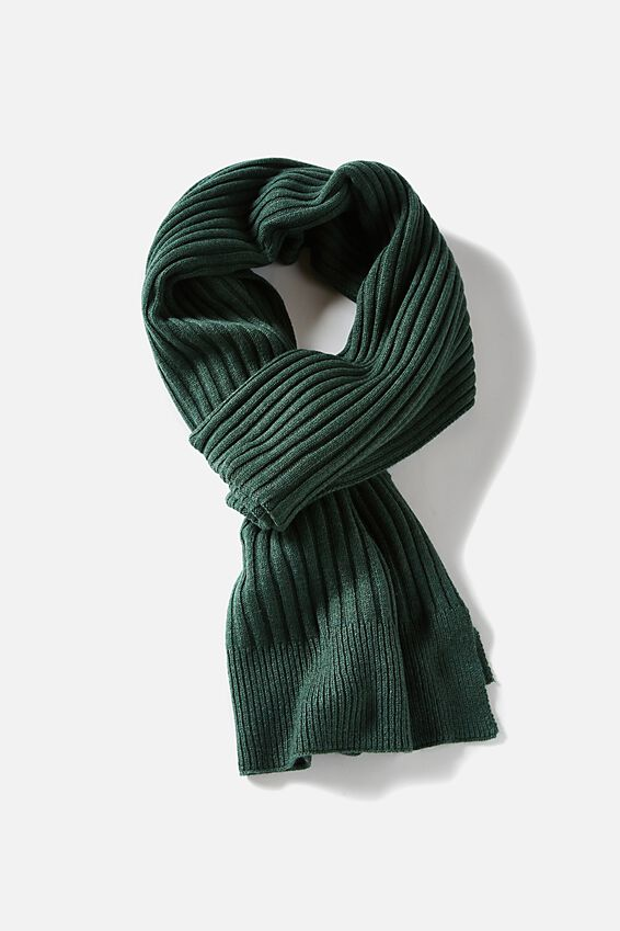 Soft Yarn Scarf, HUNTER GREEN