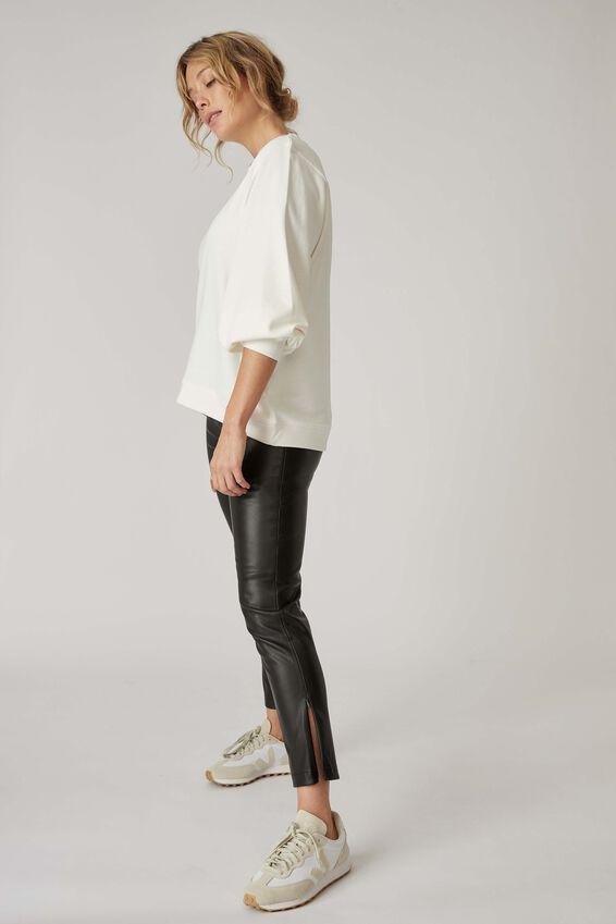Vegan Leather Pant, BLACK