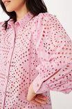 Emma Hawkins Broderie Shirt, PINK BRODERIE